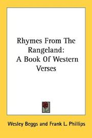 Cover of: Rhymes From The Rangeland | Wesley Beggs