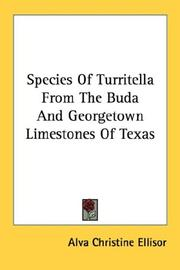 Cover of: Species of Turritella from the Buda and Georgetown limestones of Texas