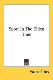 Cover of: Sport In The Olden Time