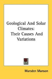 Cover of: Geological And Solar Climates