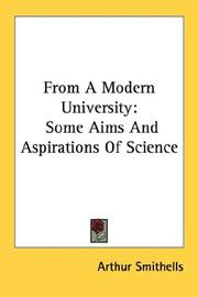 Cover of: From a modern university