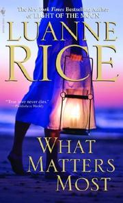 Cover of: What Matters Most | Luanne Rice