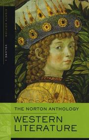Cover of: The Norton Anthology of Western Literature, Volume 1 |