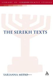 Cover of: The Serekh Texts (Companion to the Qumran Scrolls)