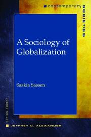 Cover of: A Sociology of Globalization (Contemparary Societies)