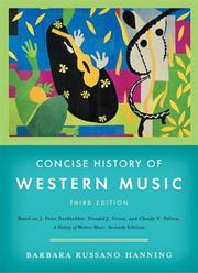 Cover of: Concise History of Western Music, Third Edition | Barbara Russano Hanning
