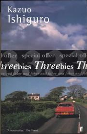 "Cover of: Threebies: Kazuo Ishiguro (Faber ""Threebies"")"