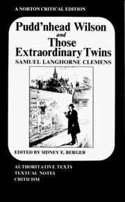 Cover of: Pudd'nhead Wilson and Those extraordinary twins