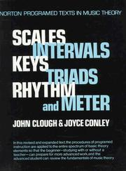 Cover of: Scales, intervals, keys, triads, rhythm, and meter