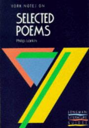 "Cover of: Philip Larkin, ""Selected Poems"""