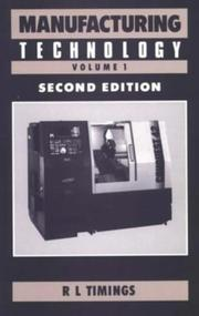 Cover of: Manufacturing Technology | R.L. Timings