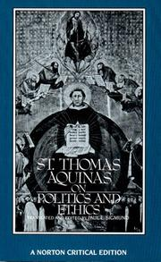 Cover of: St. Thomas Aquinas on Politics and Ethics