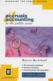 Cover of: Accruals Accounting in the Public Sector