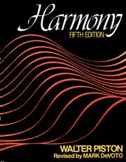 Cover of: Harmony by