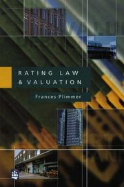Cover of: Rating Law and Valuation