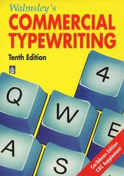 Cover of: Walmsley's Commercial Typewriting