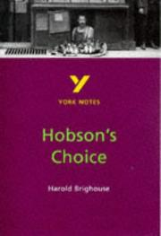 "Cover of: York Notes on Harold Brighouse's ""Hobson's Choice"""