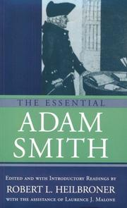 Cover of: The essential Adam Smith