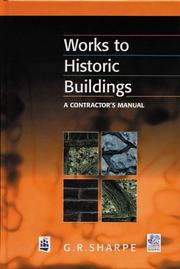 Cover of: Works to Historic Buildings