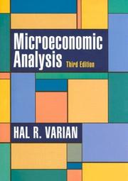 Cover of: Microeconomic analysis | Hal R. Varian