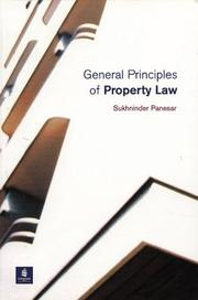 Cover of: General Principles of Property Law