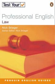 Cover of: Test Your Professional English by Nick Brieger
