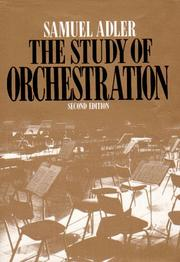 Cover of: The study of orchestration