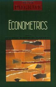 Cover of: Econometrics