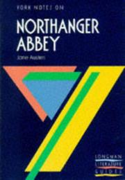 "Cover of: Jane Austen, ""Northanger Abbey"""