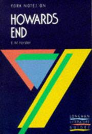 "Cover of: E.M.Forster, ""Howards End"""
