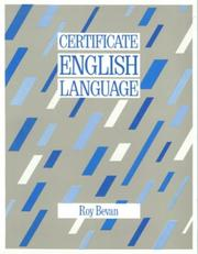 Cover of: Certificate English Language