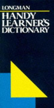 Cover of: Longman's Handy Learner's Dictionary (LHLD)