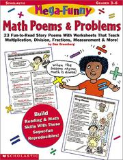 Cover of: Mega-Funny Math Poems & Problems (Grades 3-6) by Dan Greenberg
