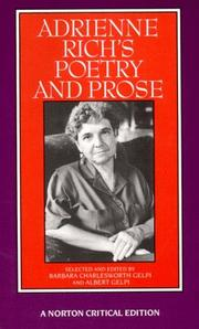 Cover of: Adrienne Rich's poetry and prose