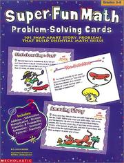 Cover of: Super-Fun Math Problem-Solving Cards (Grades 3-6)