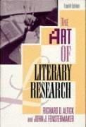 Cover of: The art of literary research
