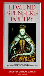 Cover of: Edmund Spenser's poetry: authoritative texts, criticism