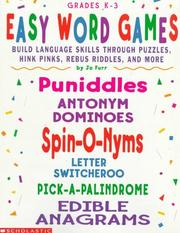Cover of: Easy Word Games | Jo Furr