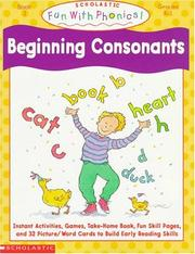 Cover of: Beginning Consonants (Fun With Phonics)
