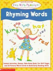 Cover of: Rhyming Words (Fun With Phonics)