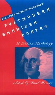 Cover of: Classroom Guide to Accompany Postmodern American Poetry:  A Norton Anthology