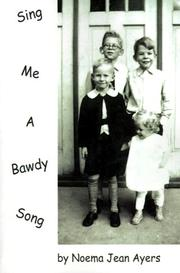 Cover of: Sing Me a Bawdy Song