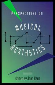 Cover of: Perspectives on musical aesthetics