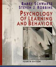 Psychology of learning and behavior by Schwartz, Barry
