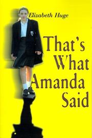 Cover of: That's What Amanda Said