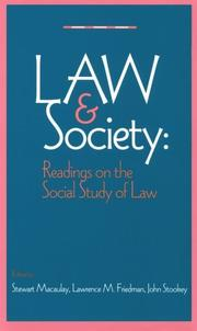 Cover of: The Law and Society Reader |