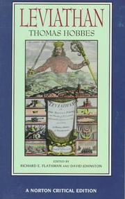 Cover of: Leviathan: Authoritative Text  | Thomas Hobbes