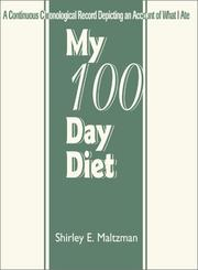 Cover of: My 100  Day Diet