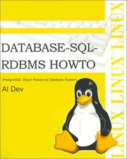 Cover of: Database-SQL-Rdbms Howto