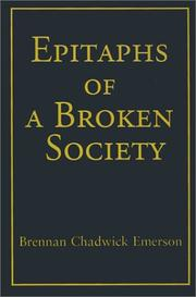 Cover of: Epitaphs of a Broken Society